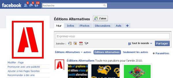 Page j'aime Facebook Alternatives
